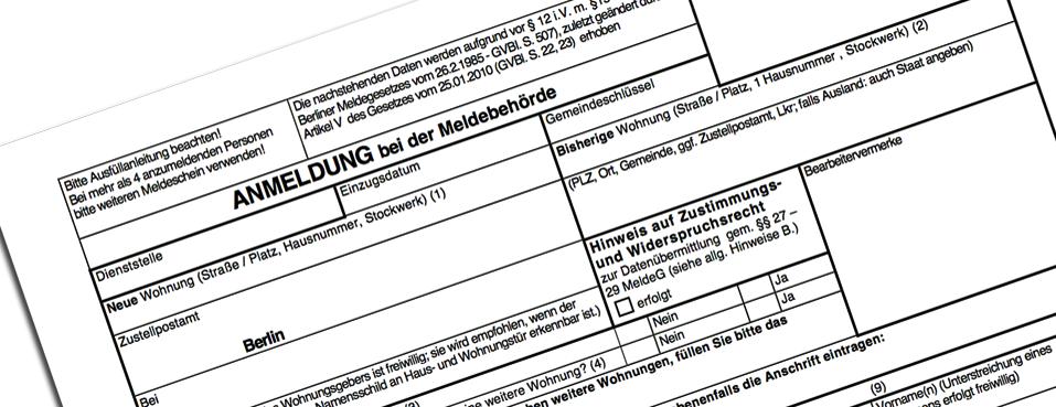 Заявка на регистрацию в Германии