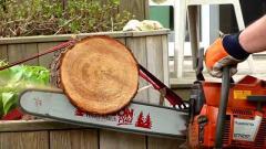 Работы бензопилой, валка деревьев, порезка дров.